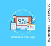 website report   business...   Shutterstock .eps vector #1045593730