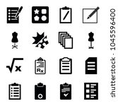 form icons. set of 16 editable... | Shutterstock .eps vector #1045596400