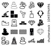 stone icons. set of 25 editable ... | Shutterstock .eps vector #1045596496