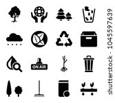 environment icons. set of 16... | Shutterstock .eps vector #1045597639