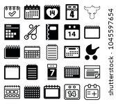 calendar icons. set of 25... | Shutterstock .eps vector #1045597654