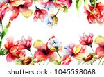 template for greeting card for... | Shutterstock . vector #1045598068