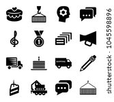 pictograph icons. set of 16... | Shutterstock .eps vector #1045598896