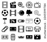 movie icons. set of 25 editable ... | Shutterstock .eps vector #1045599784