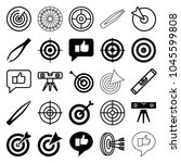 accuracy icons. set of 25... | Shutterstock .eps vector #1045599808