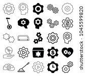 gear icons. set of 25 editable... | Shutterstock .eps vector #1045599820