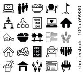site icons. set of 25 editable... | Shutterstock .eps vector #1045599880