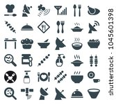 Dish Icons. Set Of 36 Editable...
