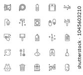 cleaning service outline icons...   Shutterstock .eps vector #1045603210