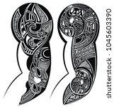 tattooed hand tattoo | Shutterstock .eps vector #1045603390