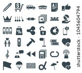 web icons. set of 36 editable... | Shutterstock .eps vector #1045604794