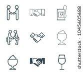 shake icons. set of 9 editable... | Shutterstock .eps vector #1045605688