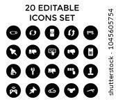 push icons. set of 20 editable...   Shutterstock .eps vector #1045605754