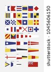 nautical flag alphabet  | Shutterstock .eps vector #1045606150