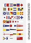nautical flag alphabet  | Shutterstock .eps vector #1045606150