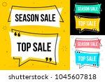 vector illustration template.... | Shutterstock .eps vector #1045607818