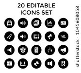 loud icons. set of 20 editable... | Shutterstock .eps vector #1045608058
