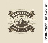 mountains logo emblem vector...   Shutterstock .eps vector #1045609204
