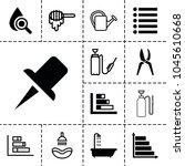 drop icons. set of 13 editable...   Shutterstock .eps vector #1045610668