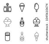 flavor icons. set of 9 editable ...   Shutterstock .eps vector #1045610674