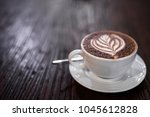 top view of coffee caff   mocha ...   Shutterstock . vector #1045612828