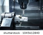 a cnc milling and drilling... | Shutterstock . vector #1045612840