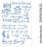 retro vector background with... | Shutterstock .eps vector #1045620610