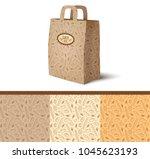 vector paper bag mockup with... | Shutterstock .eps vector #1045623193