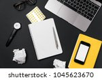 stress and headache at the... | Shutterstock . vector #1045623670