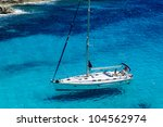 sailing boat at anchor....