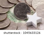 a quarter of nebraska  quarters ...   Shutterstock . vector #1045633126