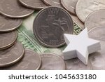a quarter of texas  quarters of ... | Shutterstock . vector #1045633180