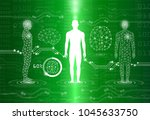 abstract background technology... | Shutterstock .eps vector #1045633750