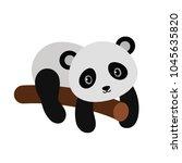 adorable panda in flat style. | Shutterstock .eps vector #1045635820