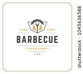 grill restaurant logo vector... | Shutterstock .eps vector #1045636588