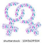 lesbi symbol pattern organized... | Shutterstock .eps vector #1045639504