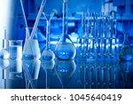 laboratory equipment. science... | Shutterstock . vector #1045640419