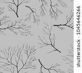 branches of trees. lace. ink | Shutterstock . vector #1045646266