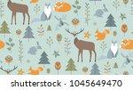 seamless pattern in...   Shutterstock .eps vector #1045649470