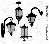 lanterns set 2. vector... | Shutterstock .eps vector #1045650583