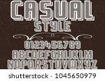 vintage font alphabet vector...   Shutterstock .eps vector #1045650979