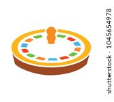casino roulette icon  game... | Shutterstock .eps vector #1045654978