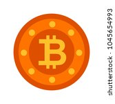 bit coin icon  vector currency... | Shutterstock .eps vector #1045654993