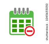 calendar with remove sign icon  ... | Shutterstock .eps vector #1045655050