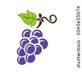 grapes icon  vector fruit... | Shutterstock .eps vector #1045655074