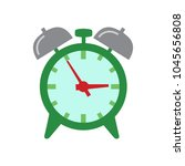 clock icon  vector alarm icon ... | Shutterstock .eps vector #1045656808