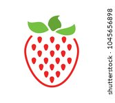 vector strawberry icon  fresh... | Shutterstock .eps vector #1045656898