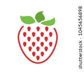 Vector Strawberry Icon  Fresh...