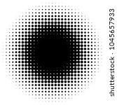 circular halftone gradient... | Shutterstock .eps vector #1045657933