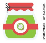 flat icon design of fruit... | Shutterstock .eps vector #1045666036
